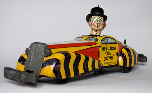 antique tin windup charlie mccarthy and mortimer snerd private car 1939 marx tin litho windup