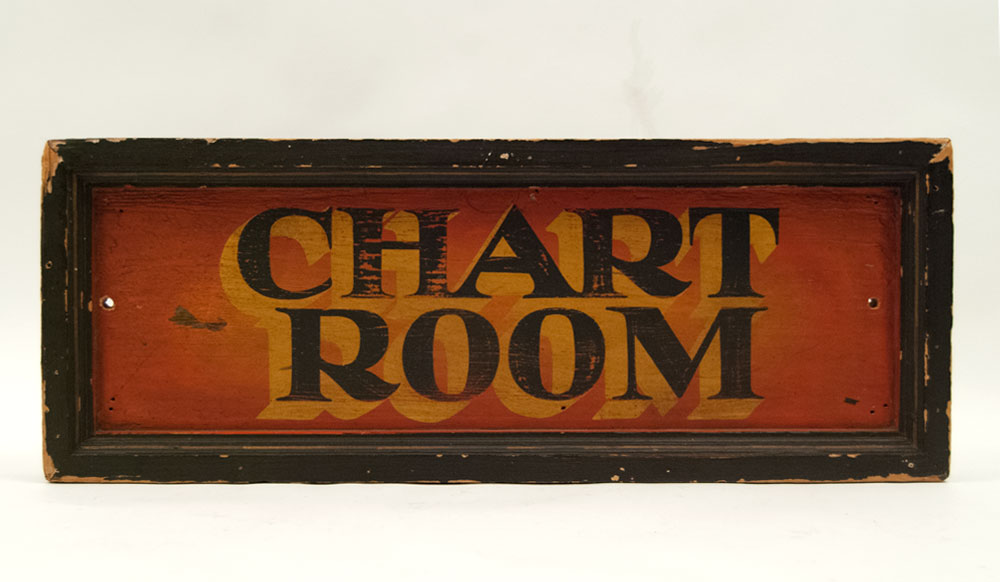 wood vintage sign painted