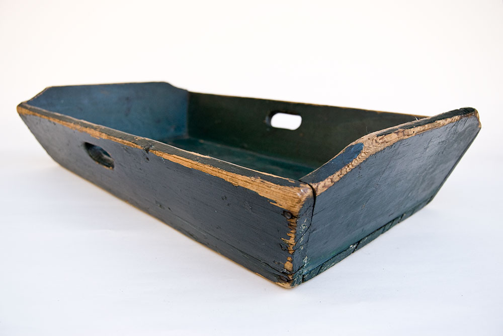 Antique Wood Painted Apple Tray