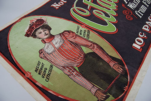 Antique American Advertising Early Victorian Linen Print Acme Printing Co.