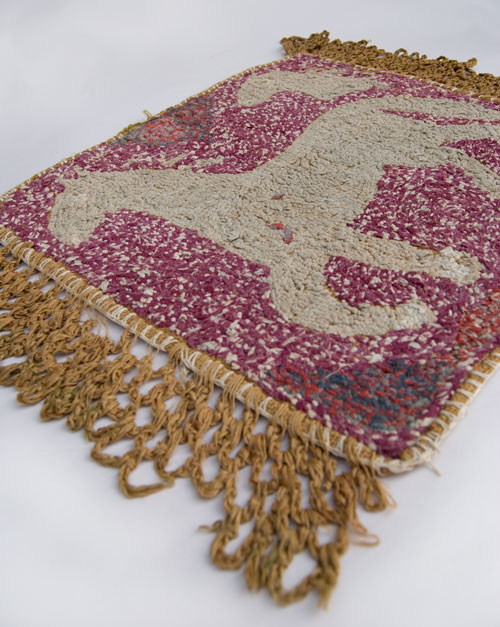 Horse_Hooked_Rug_Old_Antique_Rare_For_Sale