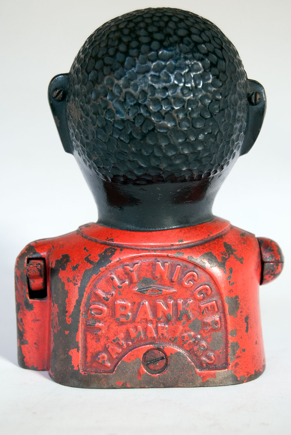 Original Shepard Hardware Cast Iron Jolly Nigger Mechanical Bank: www.zandkantiques.com/Antique_Cast_Iron_Mechanical_Bank_Jolly...