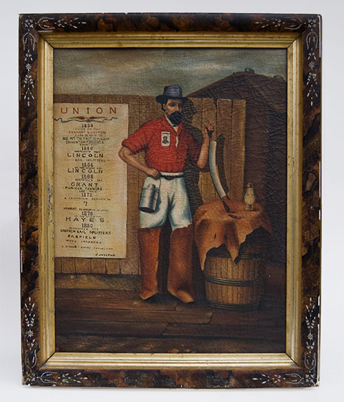 Joseph Josephs Self Portrait Folk Art American Painting