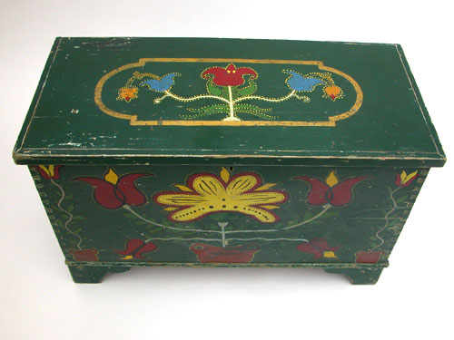 Somerset County, Pennsylvania Polychromatic Paint Decorated Blanket Chest