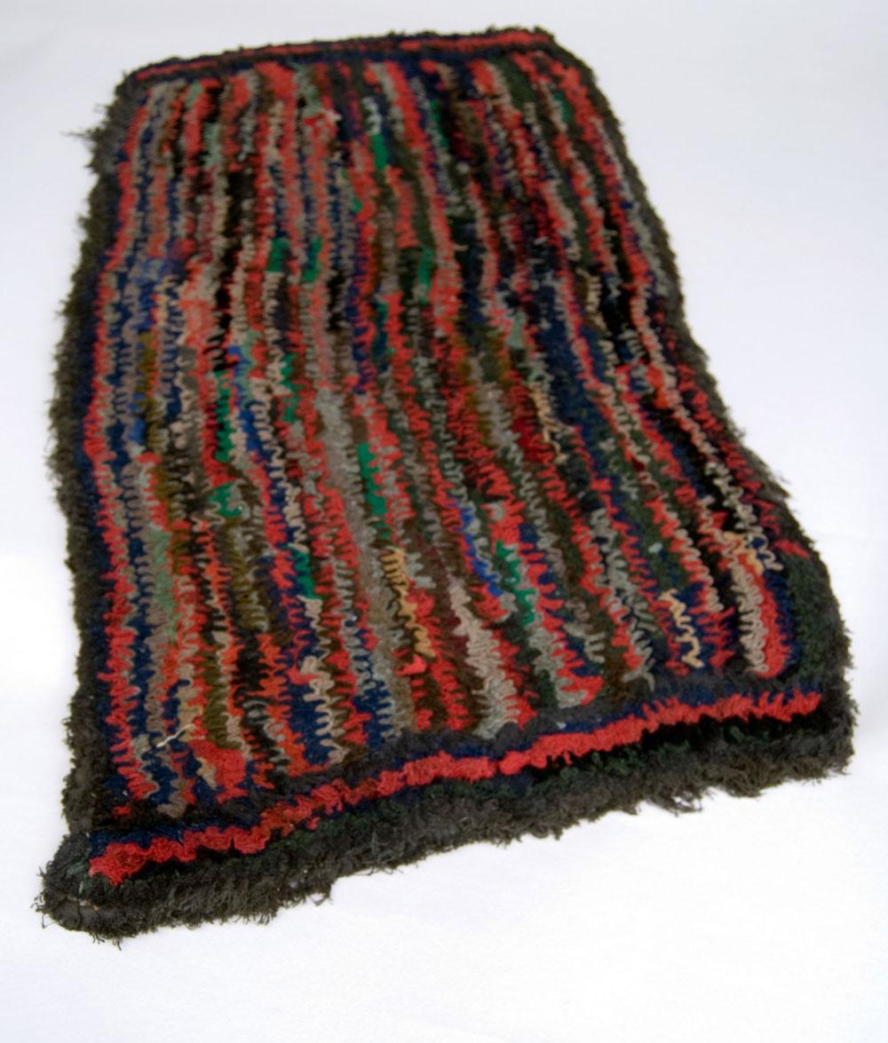 19th century wool shirred