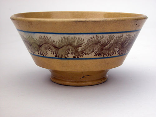 Mochaware Seaweed Yellowware Bowl