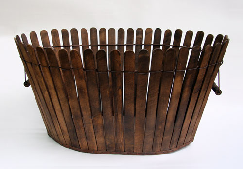 Large Antique Shaker Picket Fence Basket