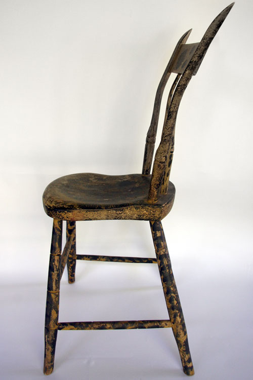 Signed A. Butler Painted Windsor Chair