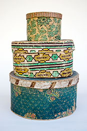 19th Century Antique Wallpaper Boxes For Sale