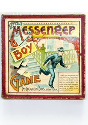 Antique Game: Little Messenger Boy Game: McLoughlin Bros. New York