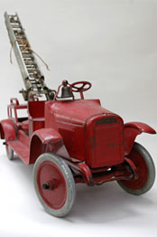 Buddy L Aerial Ladder Fire Truck Pressed Steel American Antique Toy