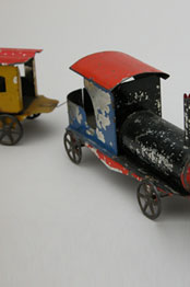 Early American Painted Tin Train