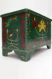 Somerset County, Paint decorated Blanket Chest Folk Art Paint Decorated Chest