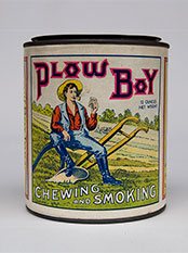 Plow Boy Tobacco Can St. Louis MO Mint Condition Paper Label Antique American Advertising