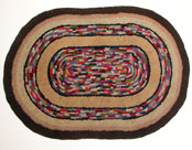 Primitive Folk Art Hooked Rug »