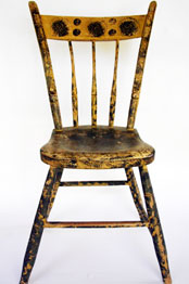 Signed A. Butler Painted Windsor Chair »