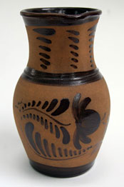 Pennsylvania Decorated Tanware Pitcher
