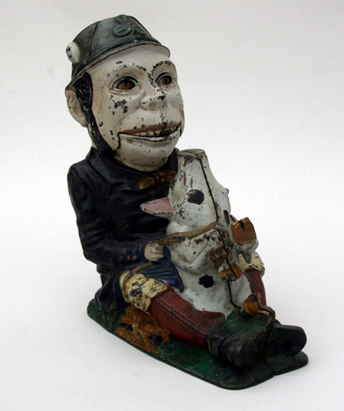 Mechanical Bank Antique Paddy and the Pig For Sale