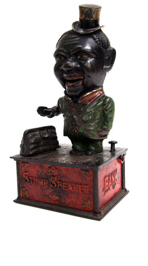 Stump Speaker | Mechanical Bank  circa 1885 - 1905