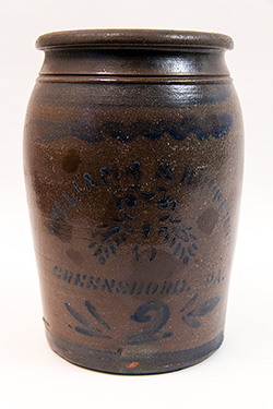 Williams and Reppert Greensboro PA 2 Gallon Cobalt Decorated Stoneware Crock