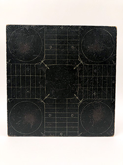 Black and White 1880s Parcheesi Gameboard Original Untouched Surface For Sale From Z and K Antiques