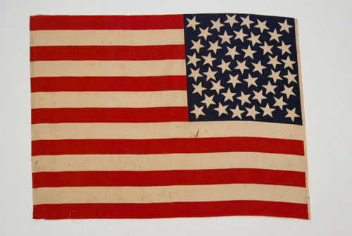 1896 Antique American Flag 45 Star Medallion Pattern Parade Flag