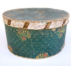 19th Century Early American Antique Wallpaper Boxes