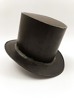 Antique 10th Wedding Anniversary Tin Top Hat Early American 19th Century