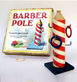 Antique American Game: Barber Bole: Parker Brothers Ring Toss Game