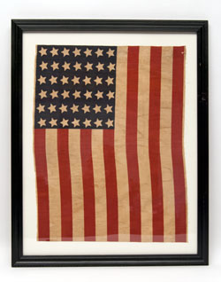 Patriotic Americana 1890 Unofficial 42 Star Parade Flag For Sale