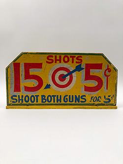 1950s Folk Art Carnival Shooting Gallery Sign For Sale From Z and K Antiques