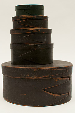 Early American Treenware: 18th or early 19th century large hand carved and turned large wooden storage jar