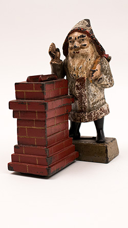 Santa Clause At Chimney Cast Iron Mechanical Bank For Sale Shepard Hardware Company