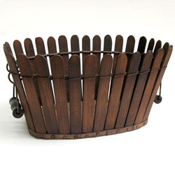 Antique Shaker Picket Fence Apple Basket