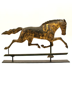 Full Bodied Harris and Company Dexter Running Horse Weathervane For Sale