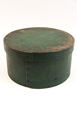 Original Dark Green Painted Antique American Pantry Box For Sale From Z and K Antiques