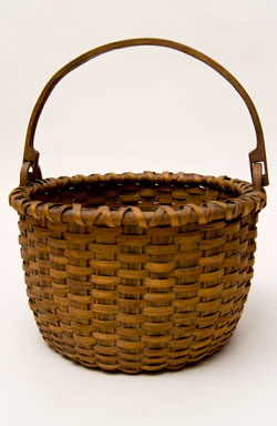 Columbia County New York Taconic Swing-handled Basket Shaker Basket nantucket Basket 19th Century Antique American Basket For Sale