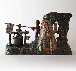 Boy Scout Camp Mechanical Bank For Sale