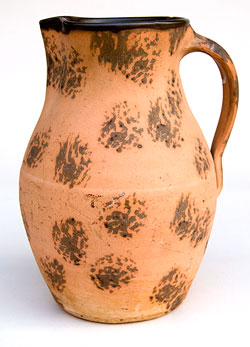 Cat's Paw Decorated Kentucky Stoneware Pitcher