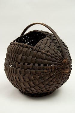 19th Century Antique American Chestnut Gathering Basket Country Primitive