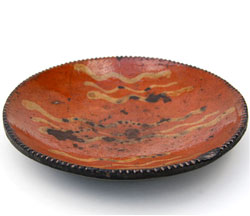 Redware Slip Decorated Plate