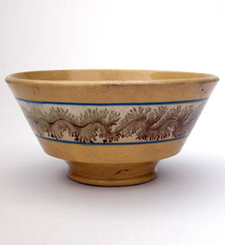 Mochaware Footed Bowl
