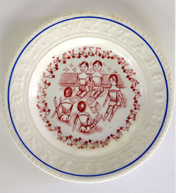 Rare Sign Language Alphabet Plate
