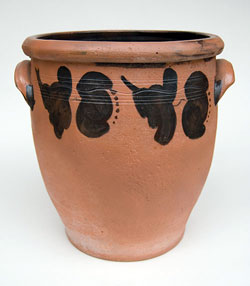 John Bell Decorated Redware Storage Jar