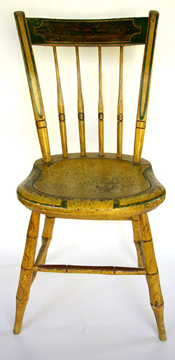 Painted Antique Windsor Chair Signed S. Kilburn | Early American Antique