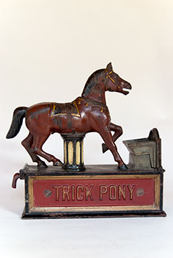 Trick Pony Mechanical Bank For Sale