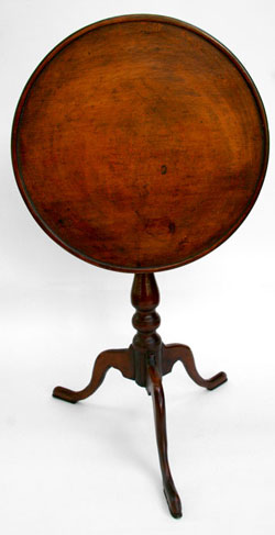 Queen Anne Antique Tilt Top Table | Diminutive Bird Cage Tea Table