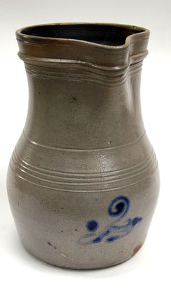 Blue Decorated Salt Glaze Pitcher