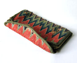 18th Century Flame Stitch Wallet Early American Textile