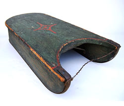 19th Century American Antique Country Primitive Paint Decorated Sled